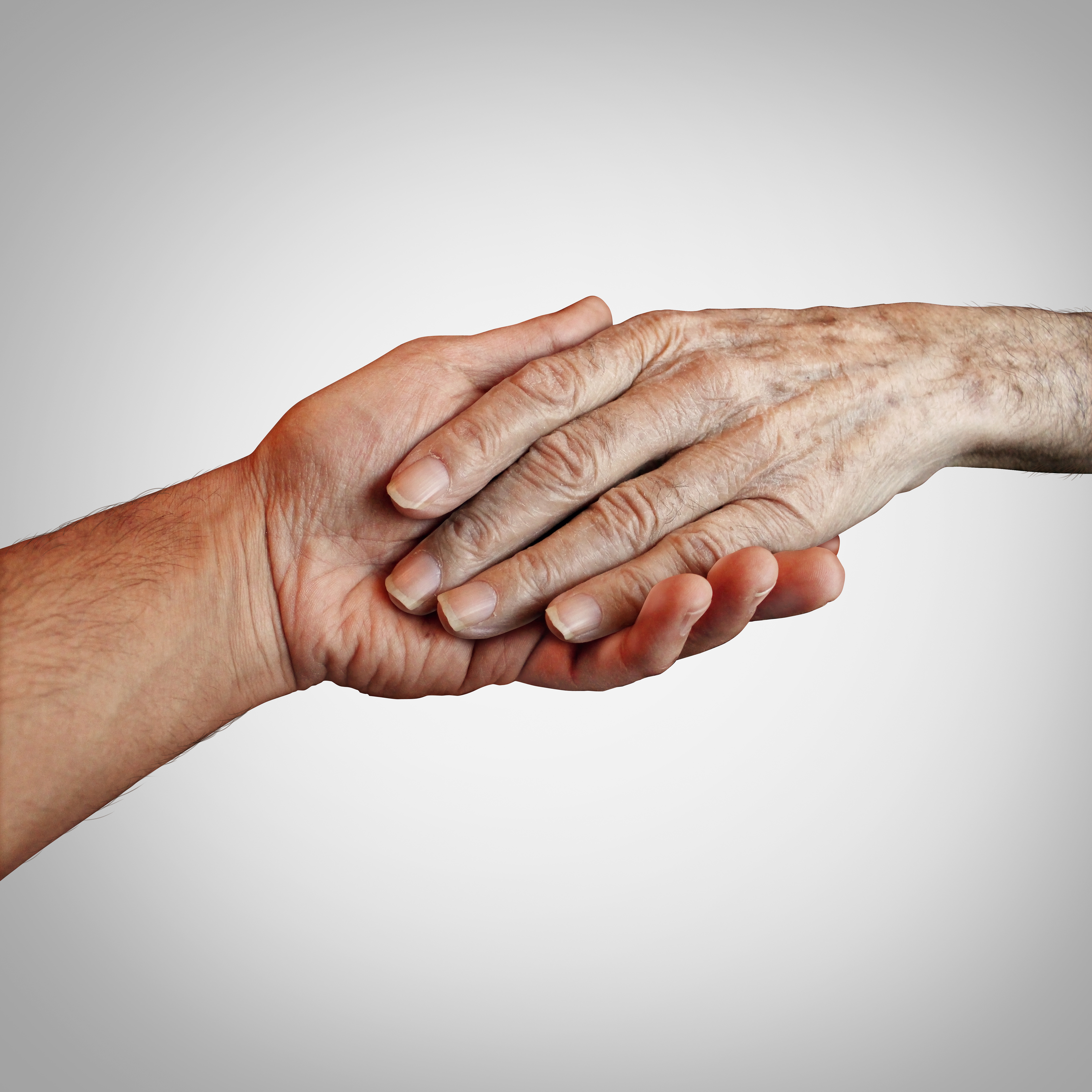 Alzheimer patient care or elderly dementia homecare as a supportive caregiver providing end of life support. concept.